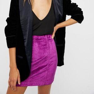 Free People Modern Femme Velvet Skirt
